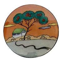 1920s Art Deco Japanese Lusterware NORITAKE Porcelain Bonsai Tree Powder Box