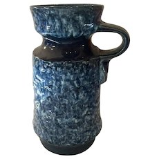1970s West German Fat Lava Pottery JASBO Handled Urn Vase
