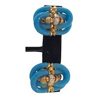 Archimede Seguso for CHANEL Turquoise Blown Glass Loop Clip Earrings