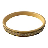 1920s Three Layer Laminated Celluloid Sparkle Bangle Bracelet