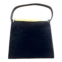 COLBLENTZ Black Suede Tailored Purse Handbag