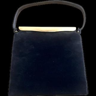 COLBLENTZ Black Suede Tailored Purse Handbag