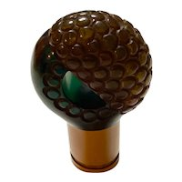 Fabulous 1930s Textured Three Color Bakelite Umbrella Cane Handle