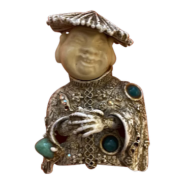 Classic HAR Oriental Man Brooch Pin
