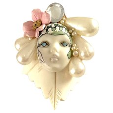 1980s Whimsical WENDY GELL Fantasy Brooch Pin