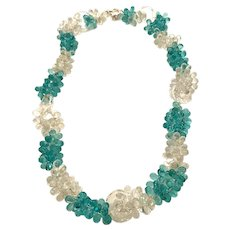 Amazing 1960s French Crystal Grape Clusters and Loops Ultra Glamorous Necklace