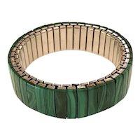 Twist-O-Flex Malachite Logs Expandable Bracelet