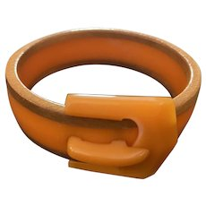 1930s Bakelite Buckle Bracelet Bangle