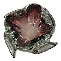 Amethyst Mid Century Art Glass Ashtray or Bowl