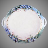 STUNNING Floral Handled Hand Painted Tray Plate Uno Favorite Bavaria