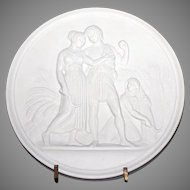 Royal Copenhagen Fall Season Bisque Figural Wall Plaque