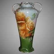 Antique Hand Painted Royal Bayreuth Vase PT