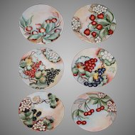 Antique German Hand Painted Decorative Cabinet Plates Artist Signed