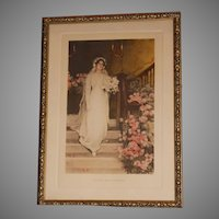 Circa 1911 Bessie Pease Gutmann Lithograph To Love And To Cherish