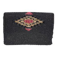 Vintage Art Deco Style Saks Fifth Avenue Beaded Clutch Purse Bag