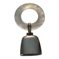 Vintage Sterling Silver Engravable Teething Ring