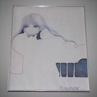 "1974 Christine Rosamond ""Blue Ice""  A Print"