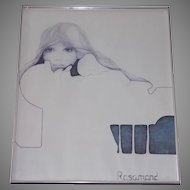 "1974 Christine Rosamond ""Blue Ice""  A Print"