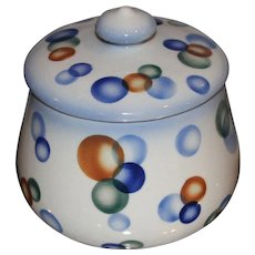 Czech Pottery Art Deco Porcelain Jar with Lid