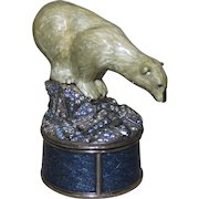 RARE Vintage Edgar Berebi Limited Edition Polar Bear Swarovski Crystal Trinket Box