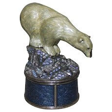 RARE Vintage Edgar Berebi Limited Edition Polar Bear Swarovski Crystal Trinket Box