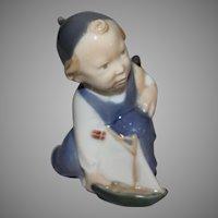 Royal Copenhagen Little Boy with Sail Boat # 3272 Figurine