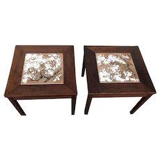 Pair of Mid-Century Modern Brown Saltman Side Tables