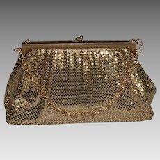 Vintage Whiting Davis Gold Mesh Evening Bag or Purse