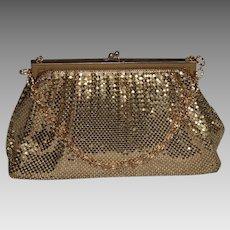 Vintage Whiting Davis Gold Mesh Evening Bag or Purse