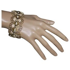 Vintage MINT Coro Goldtone Bow Bracelet