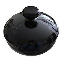 Art Deco Jean Luce Black Lidded Bowl