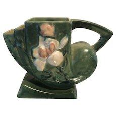 Roseville Pottery Magnolia Green Cornucopia No. 182-5