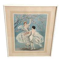 FG Henri Art Deco Lithograph Print Icart Style