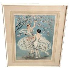 FG Henri Art Deco Lithograph Print