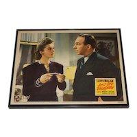 Original RARE Lloyd Nolan Print Just Off Broadway Original Lobby Card / Poster