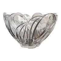 Lenox Tulip Motif Crystal Bowl W/ Scalloped Rim