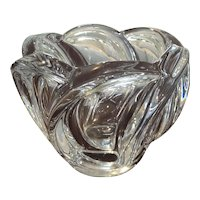 Art Vannes Crystal Centerpiece Bowl French