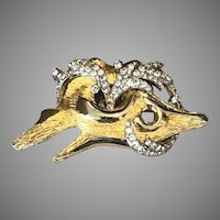 Vintage Signed Castlecliff Brooch Abstract Boar