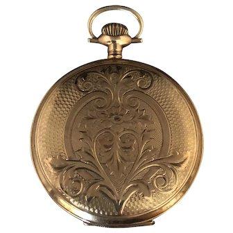 Antique 1912 Waltham 14K Gold Pocket Watch