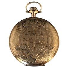 Antique Circa 1860's Waltham 14K Gold Pocket Watch