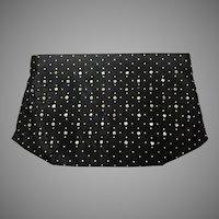 Vintage Black Lou Ash Satin & Rhinestone Clutch Purse Bag