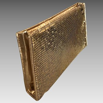 Vintage Duramesh Mesh Gold Zippered Purse Bag