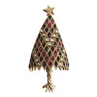 Vintage Corocraft Christmas Tree Pin Book Piece