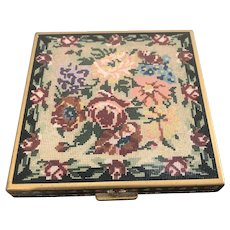 Volupte 1930 Compact Enamel Needlepoint Design