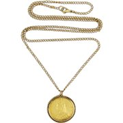 Gold sovereign in jewelry victorian sovereign 22k gold pendant with 9k surround amp antique chain aloadofball Images