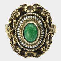 Austro-Hungarian Arts and Crafts Silver Gilt Ring