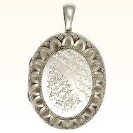 Victorian Sterling Silver Decorative Locket