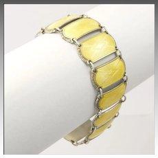 Norwegian Art Deco Silver Enamel Bracelet - IVAR T HOLTH - Rare!