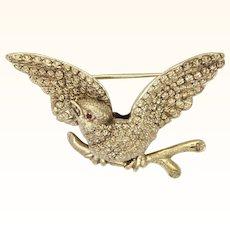 Victorian Silver Gilt Dimensional Bird Pin