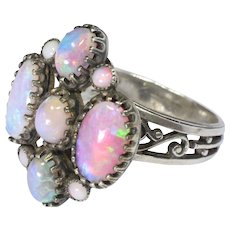 Arts & Crafts French Silver and Opal Ring - Red Tag Sale Item
